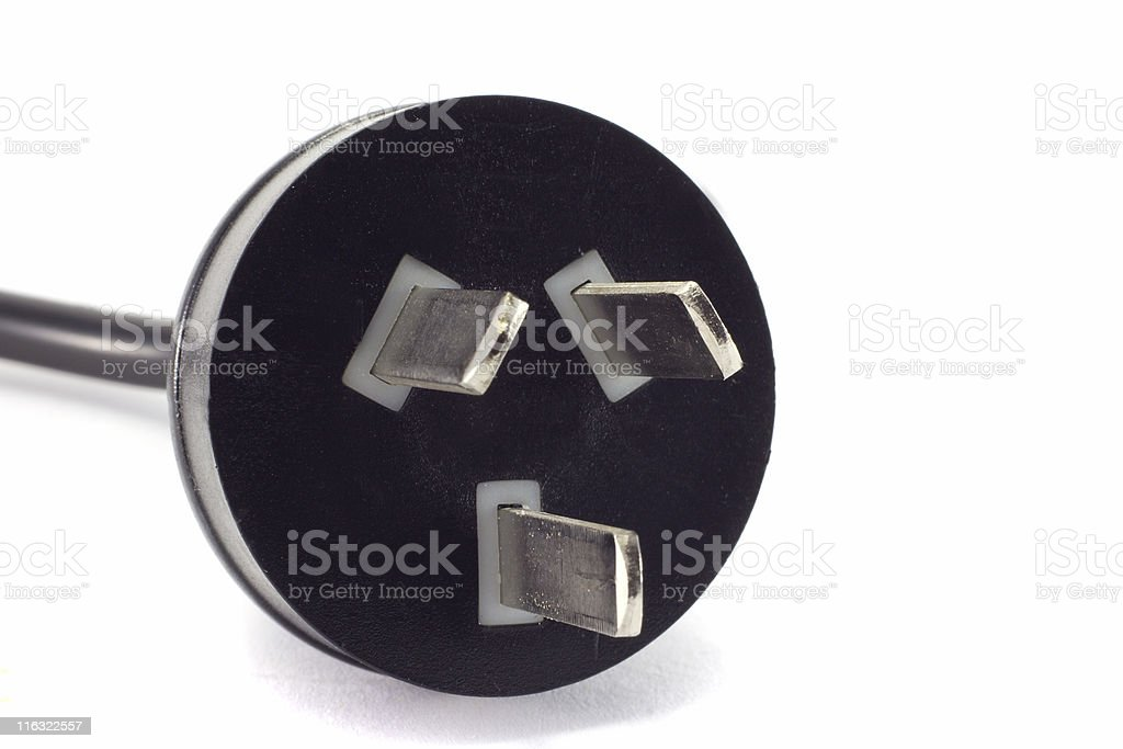 Power outlet plug. royalty-free stock photo