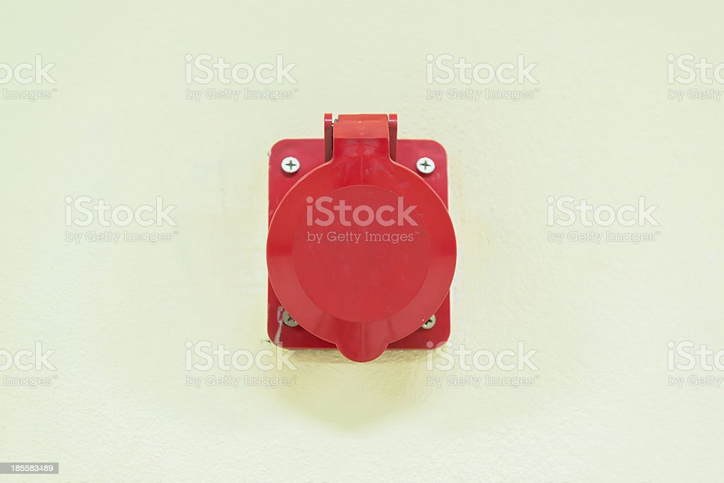 Power outlet under covered on the wall royalty-free stock photo