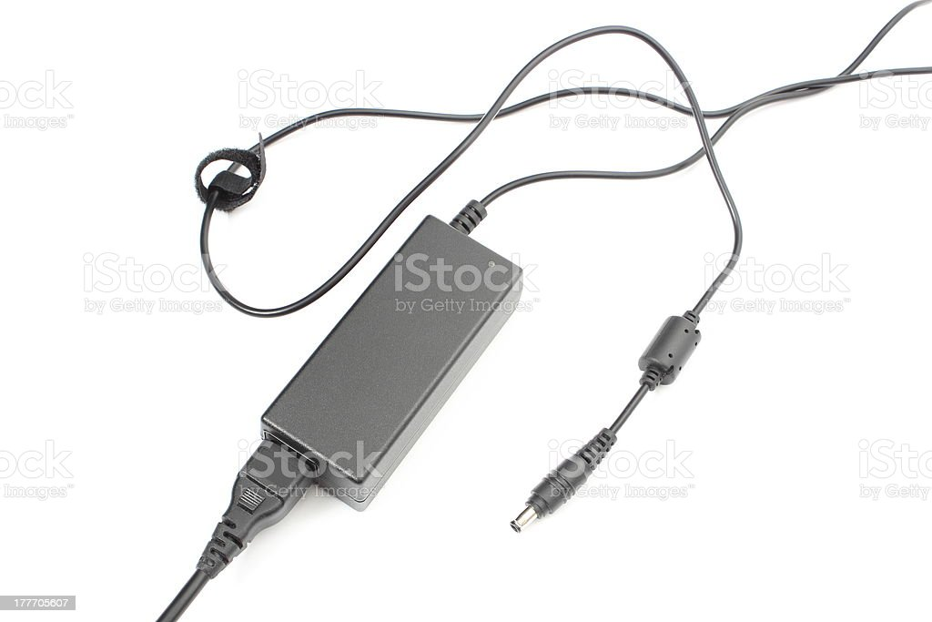 Power pack for a laptop on white background royalty-free stock photo