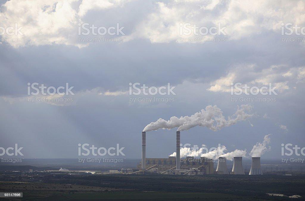 power plant 3 stock photo