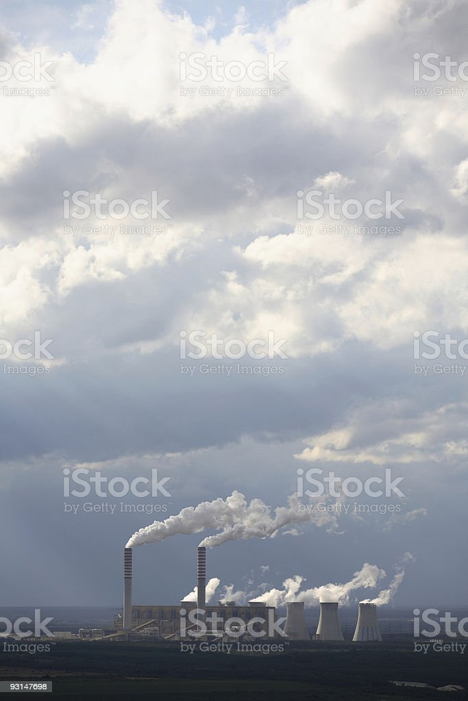 power plant 4 stock photo