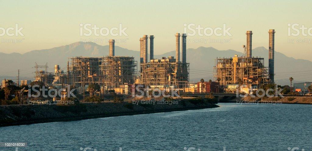 Power Plant At Sunrise stock photo