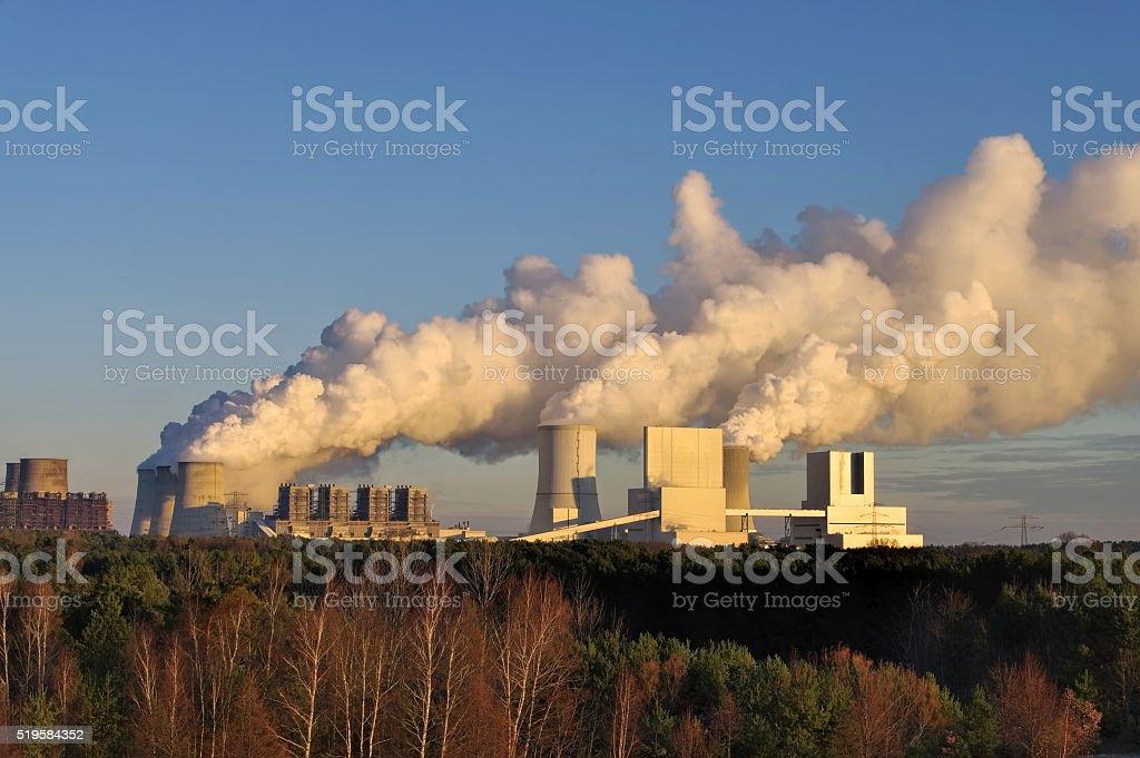 power plant Boxberg stock photo