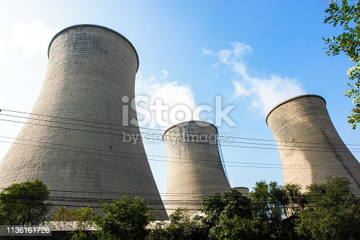 istock Power plant chimney 1136161726