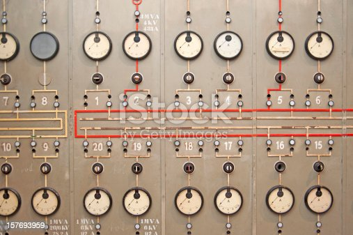 power plant console panel
