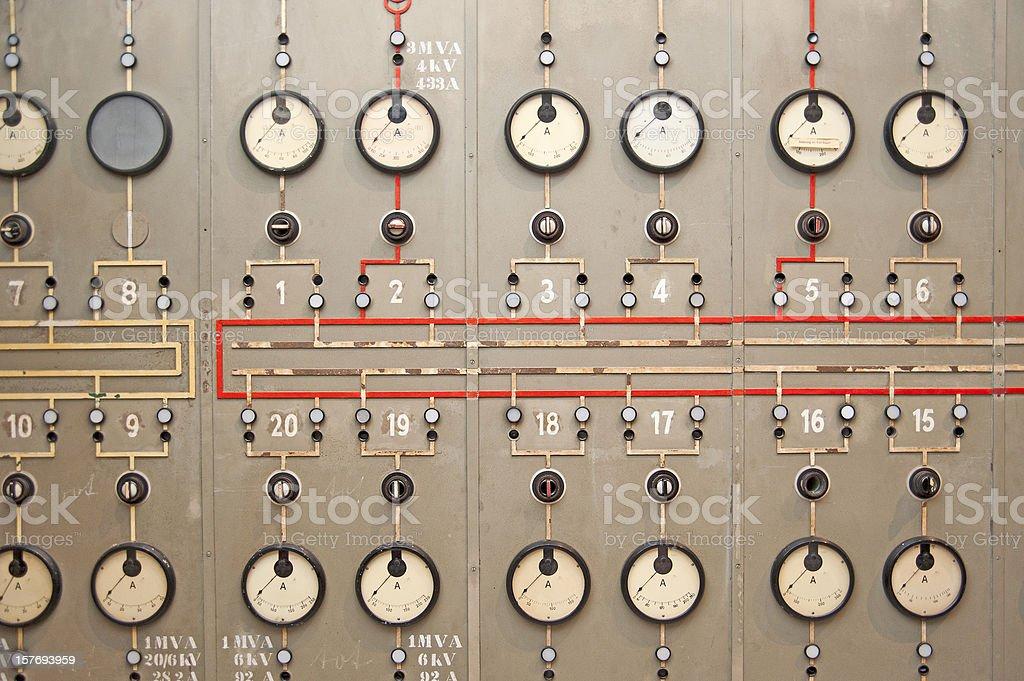 Planta de energía consola de panel - foto de stock