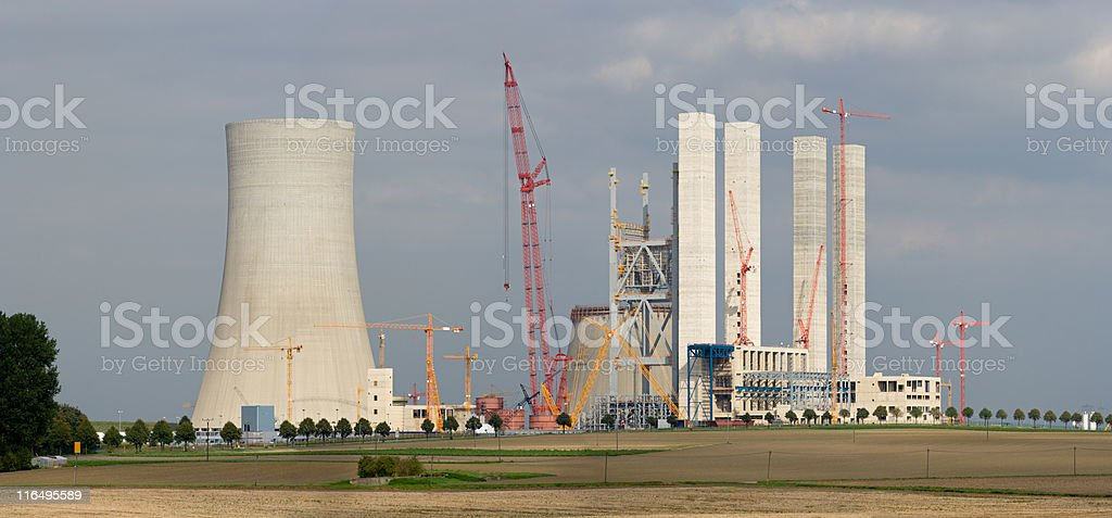Power Plant Construction Site stock photo