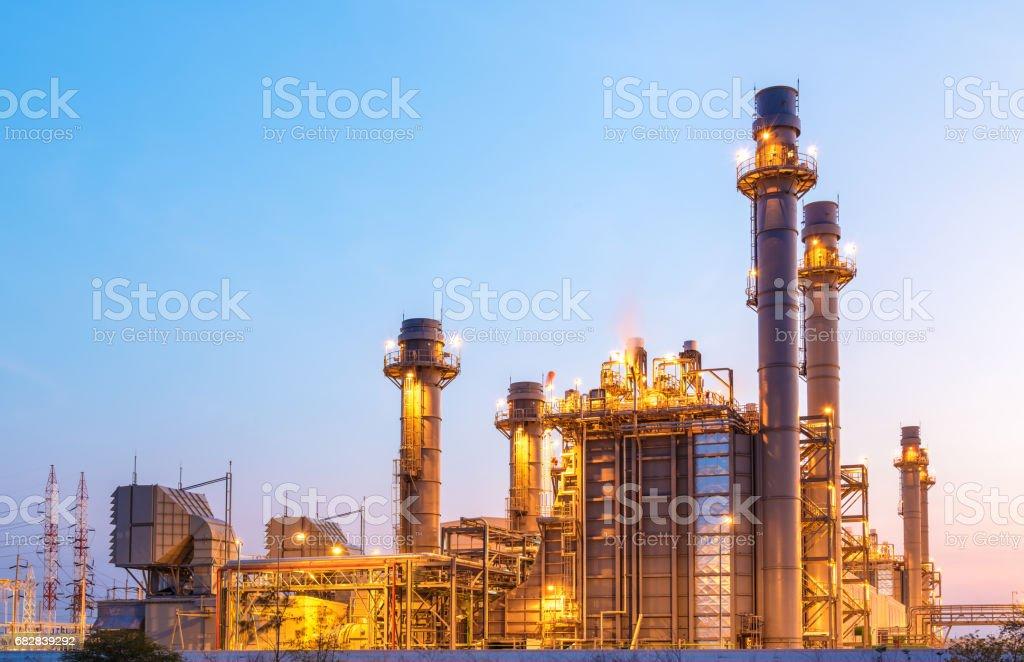 Power plant for Industrial Estate at twilight Lizenzfreies stock-foto