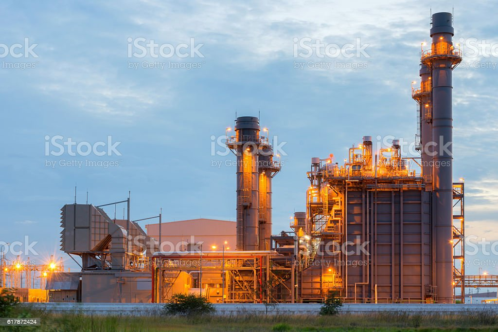 Power plant for Petroleum industry stock photo