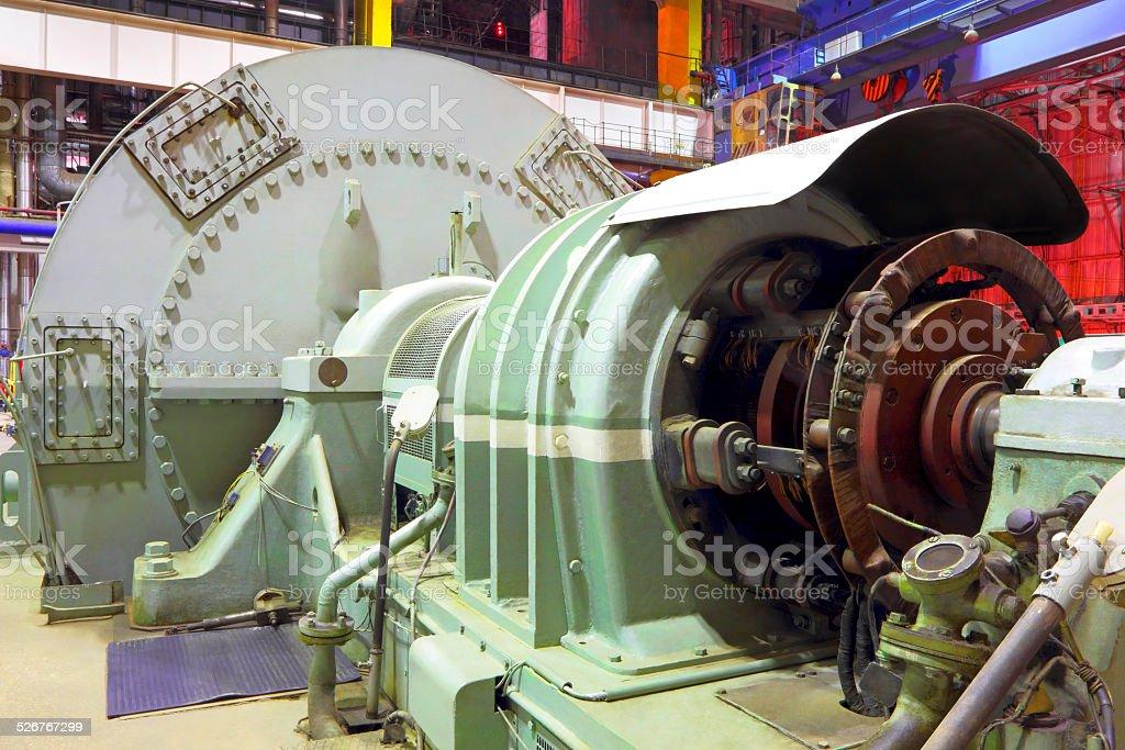 Power plant  generator stock photo