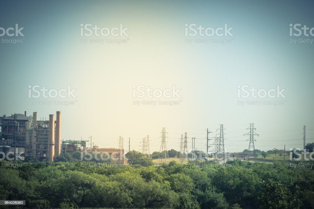 Power plant in Dallas, Texas, USA - Royalty-free Agricultural Field Stock Photo