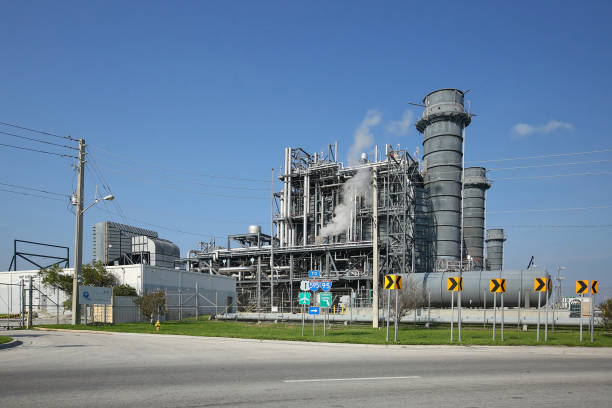 Power plant in Florida stock photo