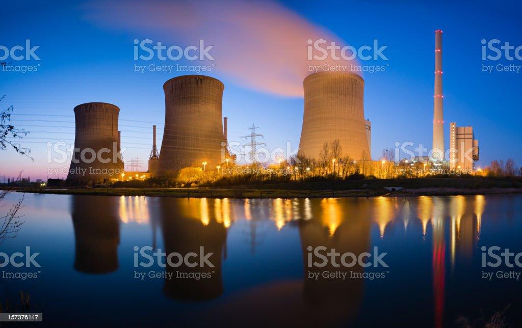 Kraftwerk-Panorama Lizenzfreies stock-foto