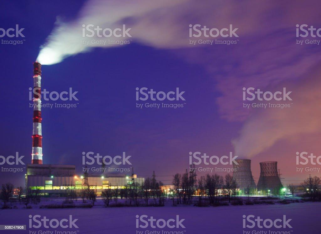power plant stock photo
