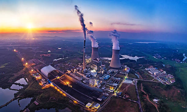 power plant - fuel and power generation stock photos and pictures