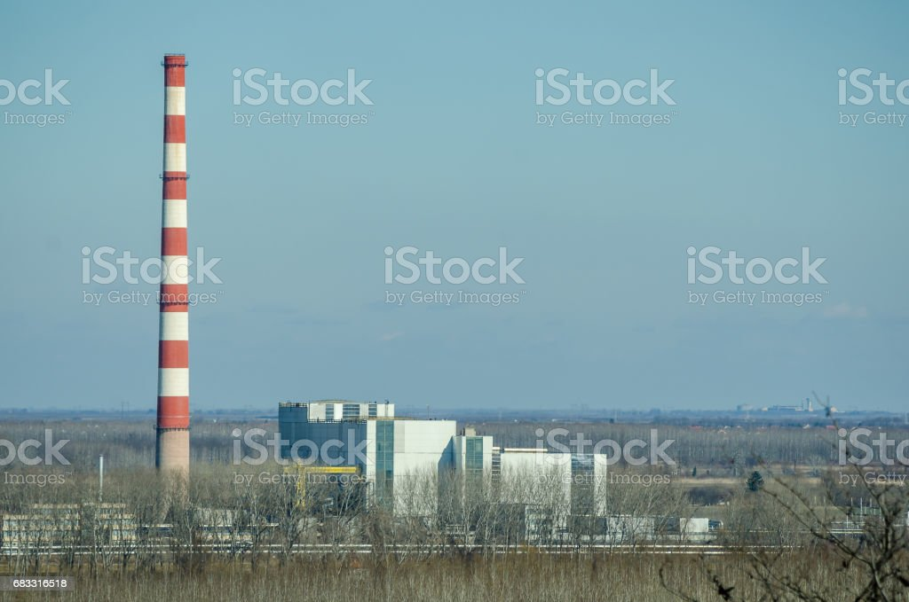 Power plant. Power supply. Electricity. foto stock royalty-free