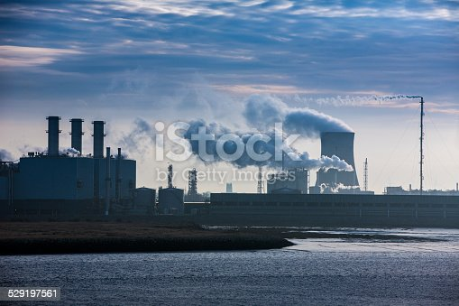 istock Power plant releasing green house fumes 529197561