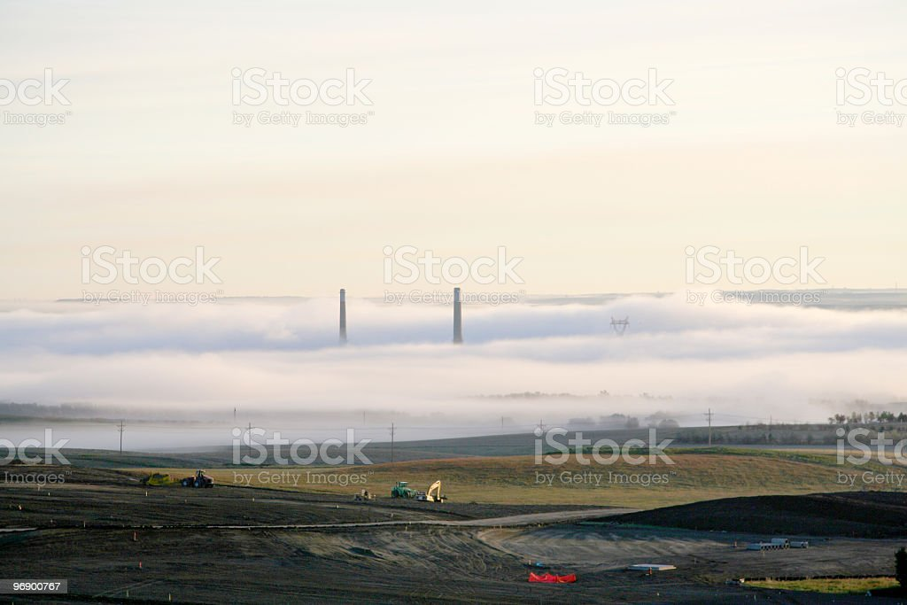 Power Plant Smoke Stack royalty-free stock photo