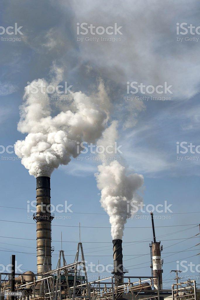 Power Plant Smoke Stacks royalty-free stock photo
