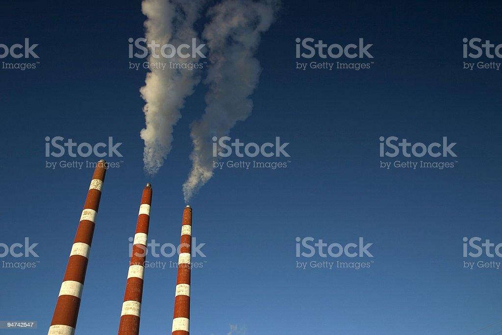 Power Plant Stacks stock photo