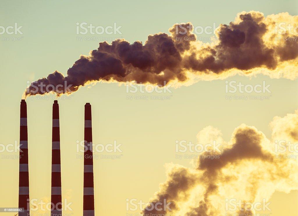 Planta de energía Sunrise - foto de stock
