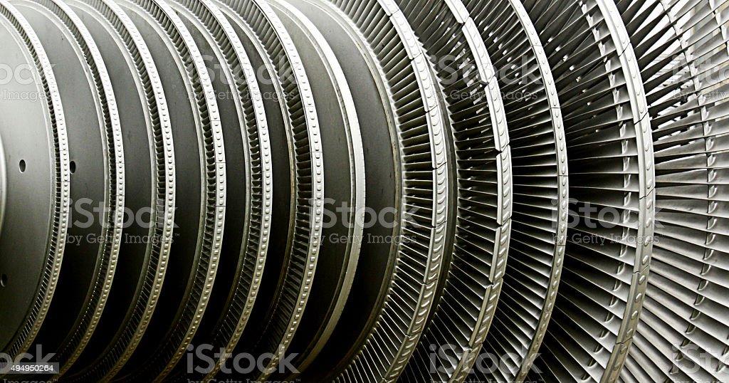 Power Plant Turbine stock photo