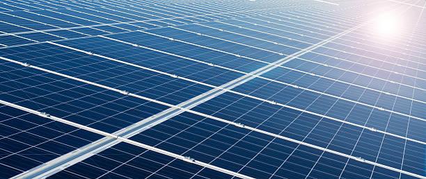 kraftwerk mit erneuerbaren solar energy - generator text stock-fotos und bilder