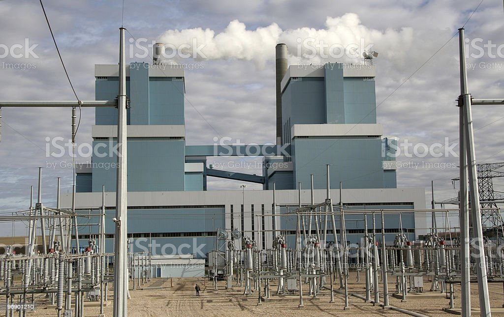 Power Plants and Switch Yard royalty-free stock photo
