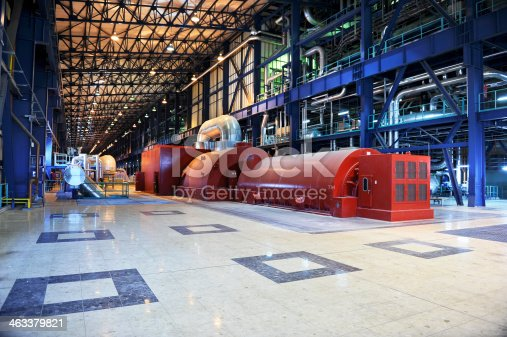 Power plant's turbine room