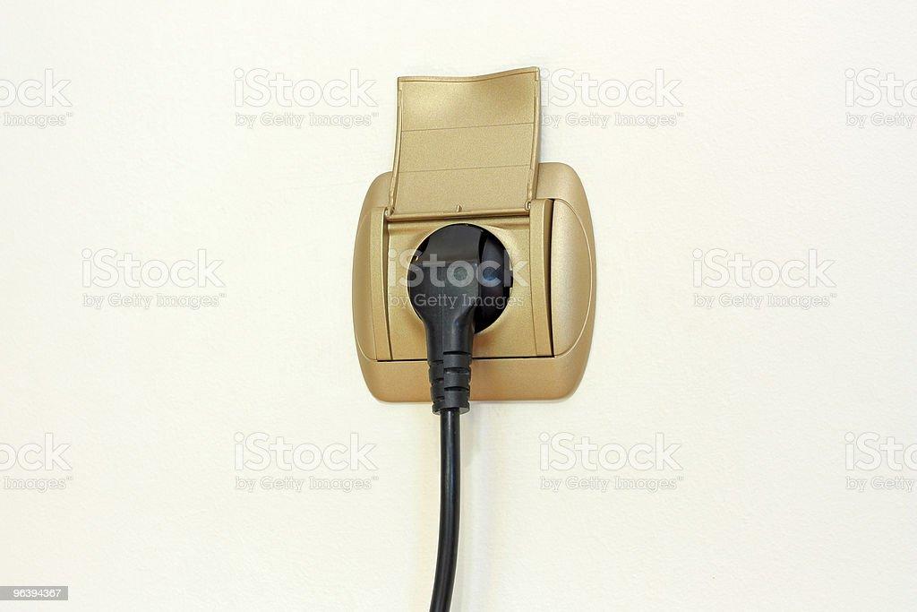 電源プラグおよびソケット - カラー画像のロイヤリティフリーストックフォト