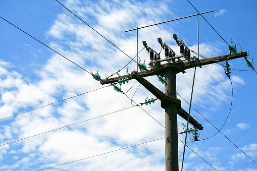 Power pole and sky