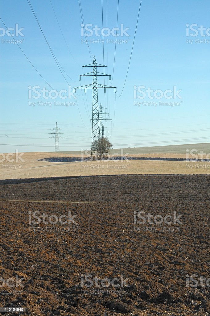 Power Pole royalty-free stock photo