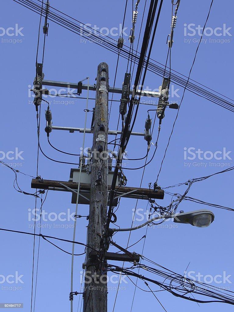 Power Pole #2 royalty-free stock photo