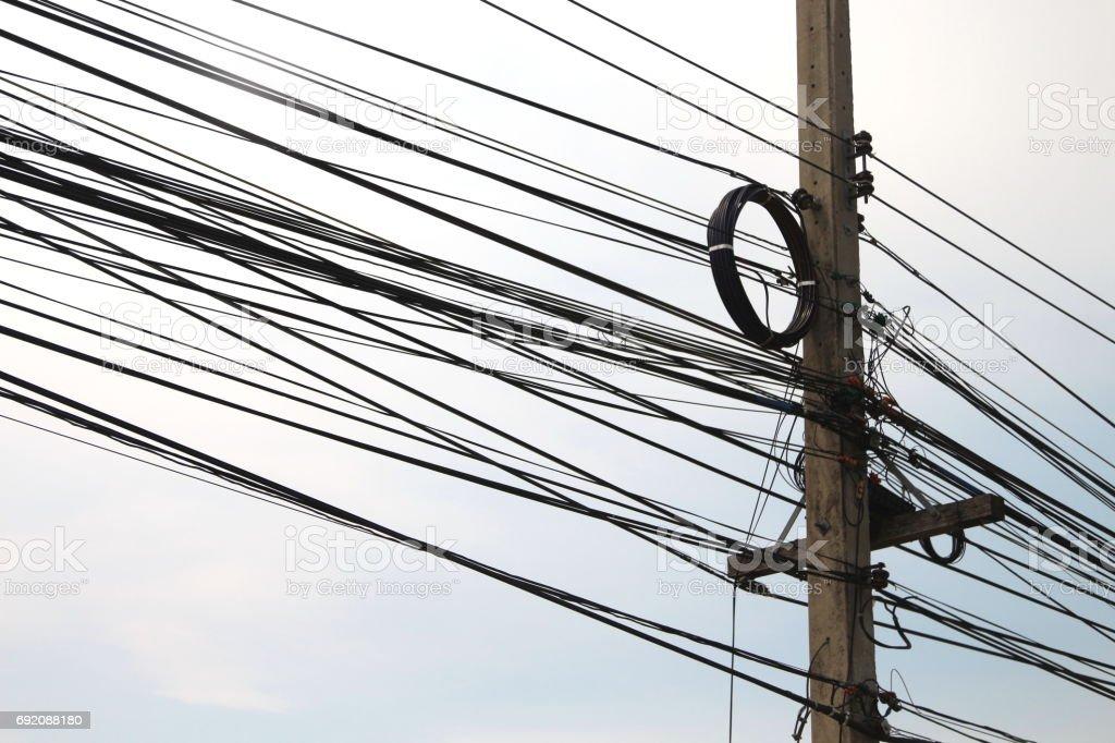 Fotografía de Postes De Energía Y Líneas Telefónicas En La Era De La ...