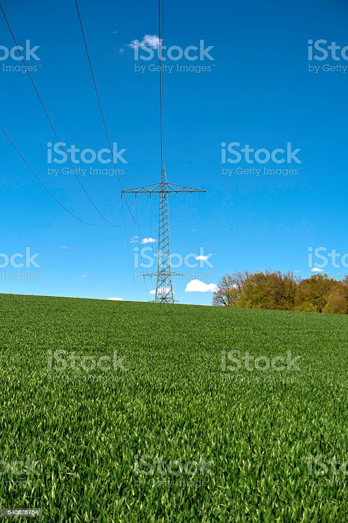 Power Poles in Germany stock photo