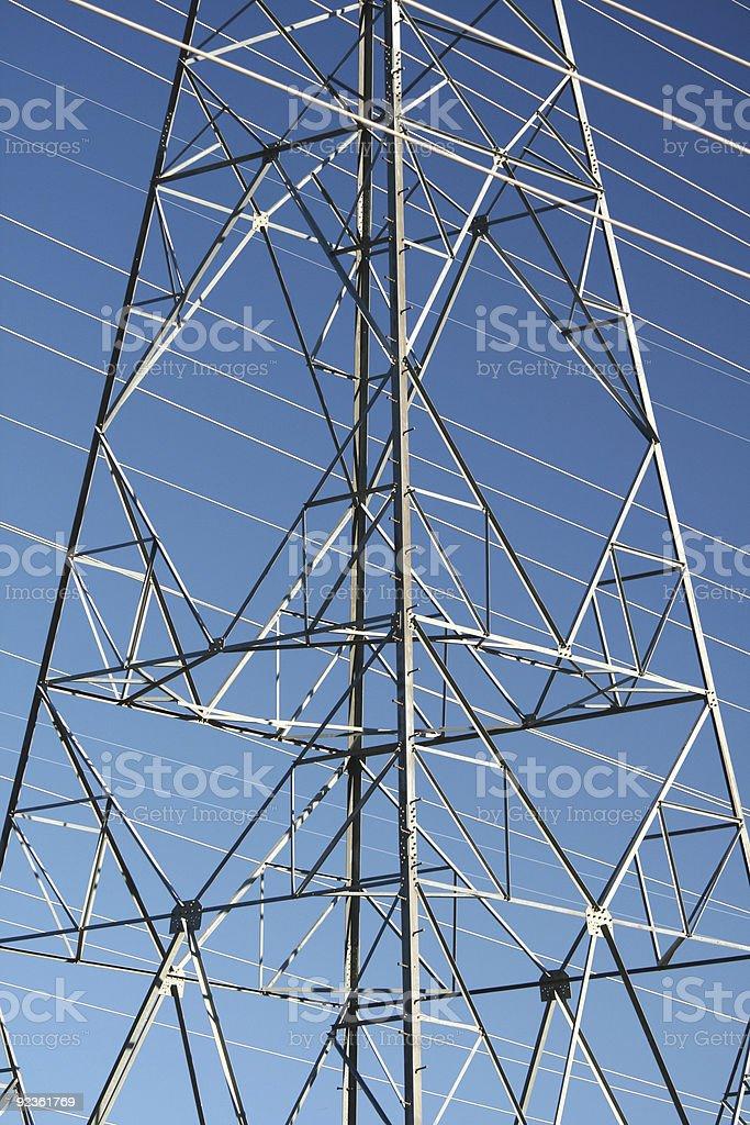 Macht-Pylon-Detail Lizenzfreies stock-foto