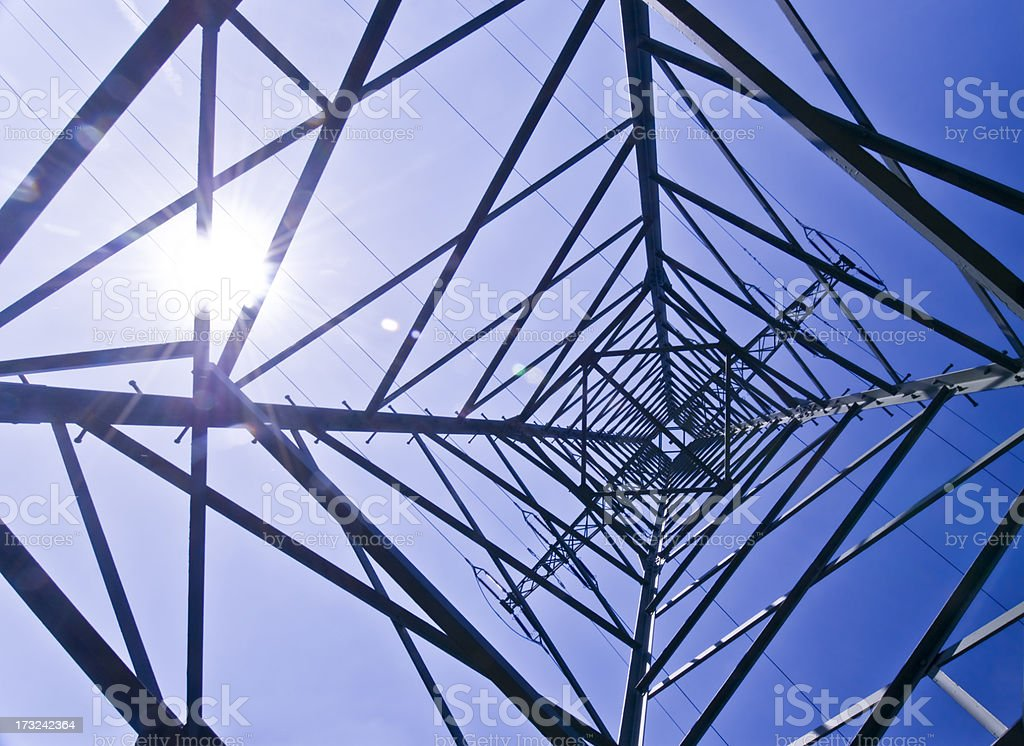 Power pylon royalty-free stock photo