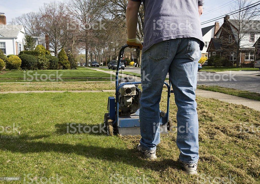 power rake lawn thatcher royalty-free stock photo