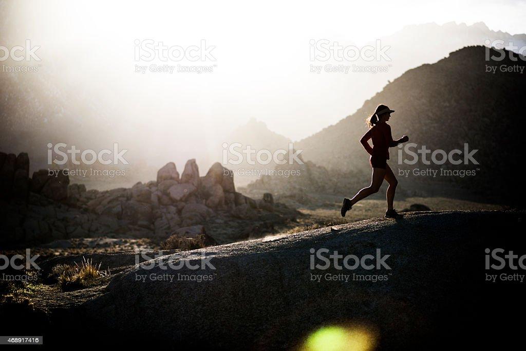 power runner stock photo