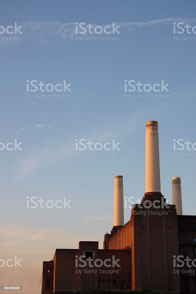 Power Station at Dawn stock photo