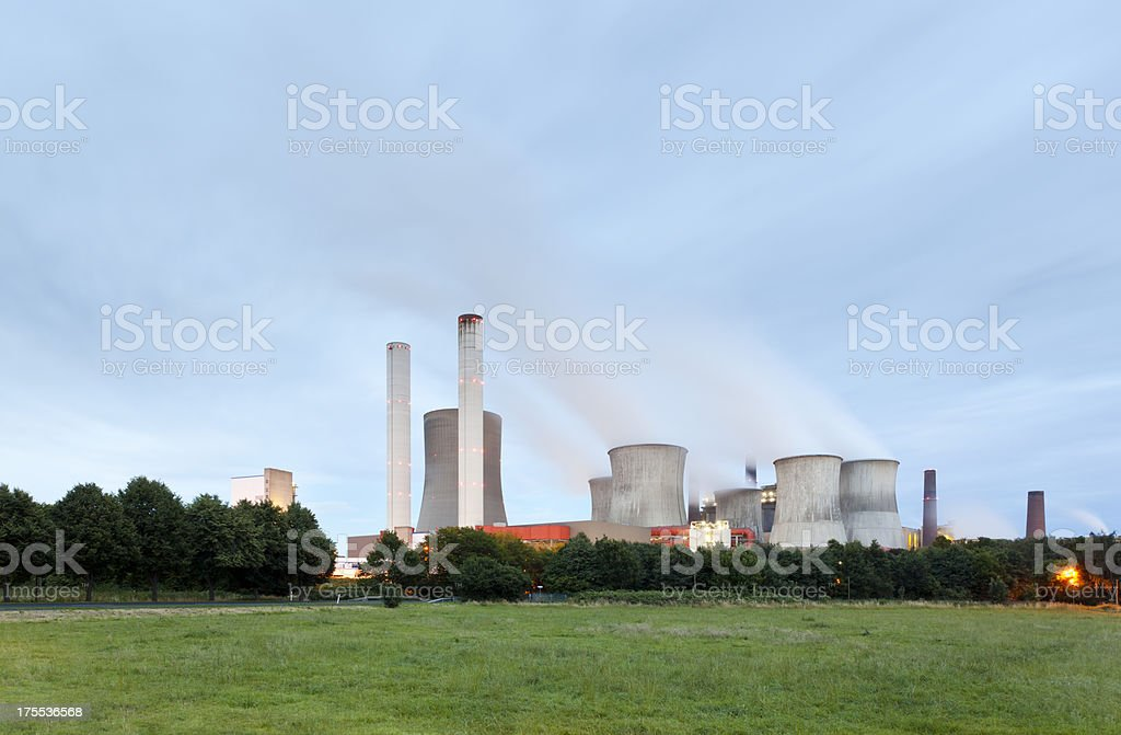 Power Station At Night royalty-free stock photo