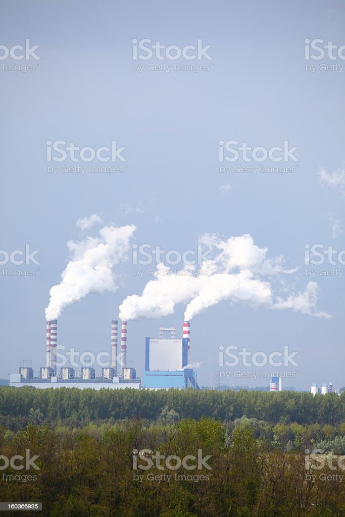 power station in Poland royalty-free stock photo