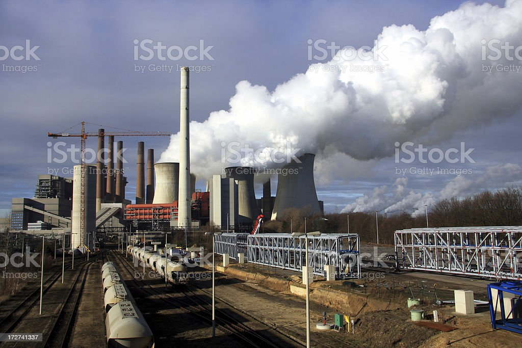 power station in production royalty-free stock photo