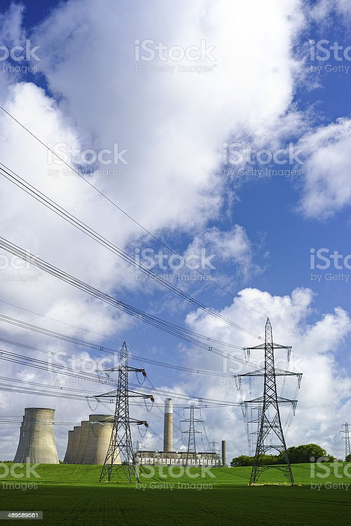 Power station in the countryside. stock photo
