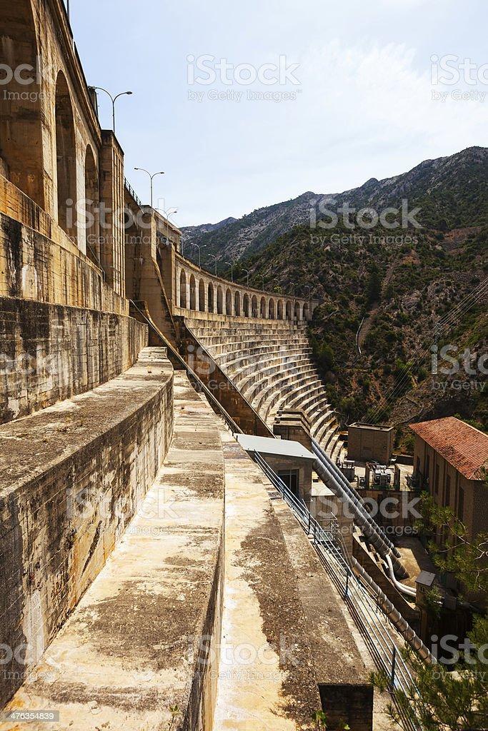 power station on Segre river. Lleida stock photo