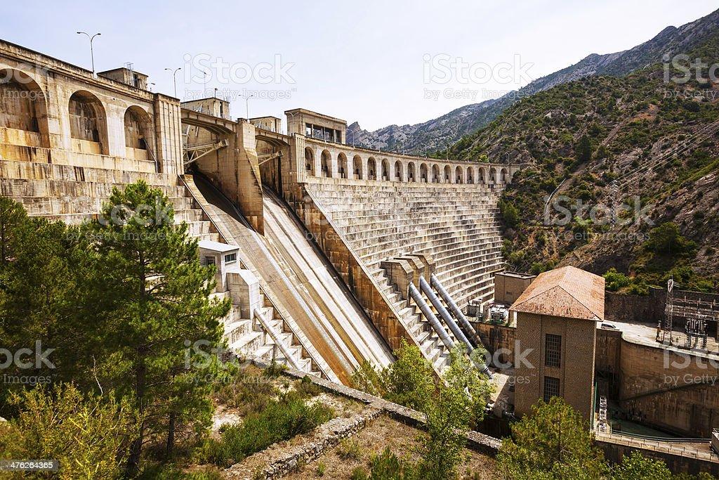 power station on Segre river stock photo
