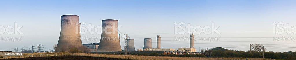 Power station panorama royalty-free stock photo