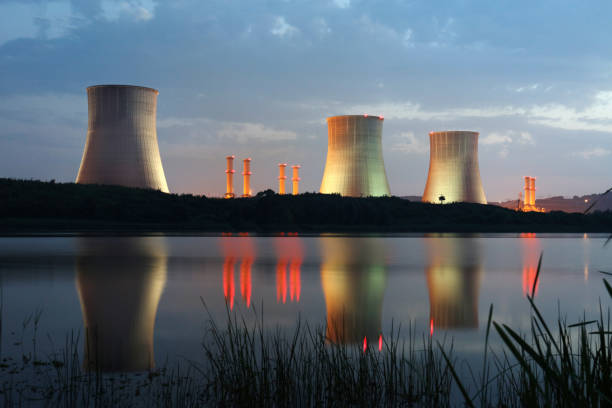 power station - nuclear power station stock photos and pictures