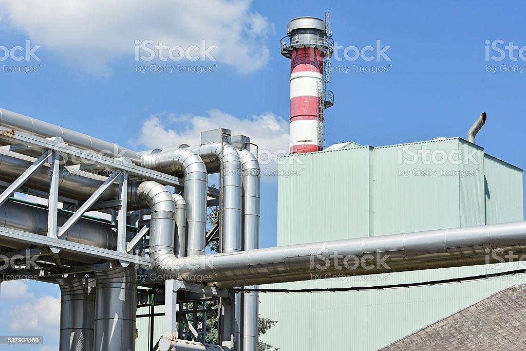 Power station pipeline stock photo