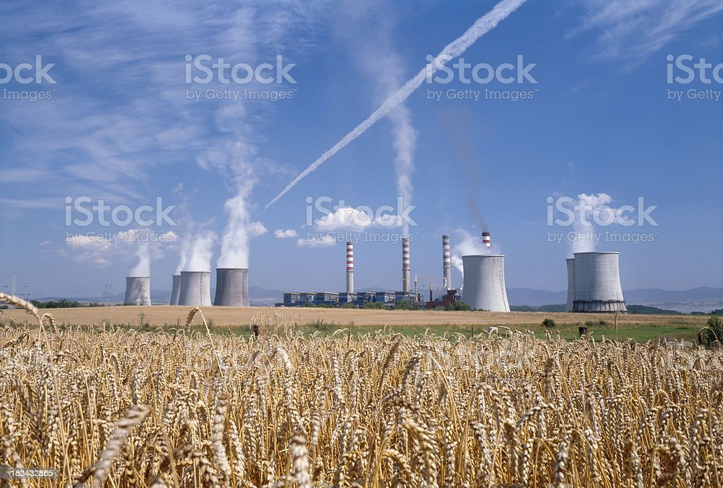 Power station to the lignite coal. royalty-free stock photo